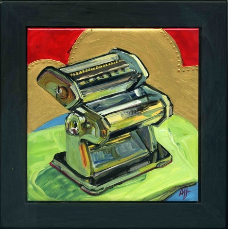 Pasta maker painting